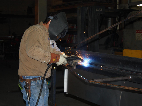 McIntires long time employee Steve welding away